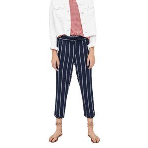 Zara TRF Collection Stripe Navy Trousers Small